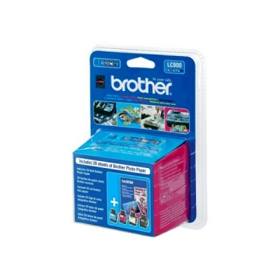 Brother inktpatroon LC-900VB1PDR CMYK+papier multipak