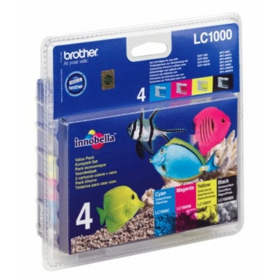 Brother inktpatroon LC-1000VAL CMYK multipak