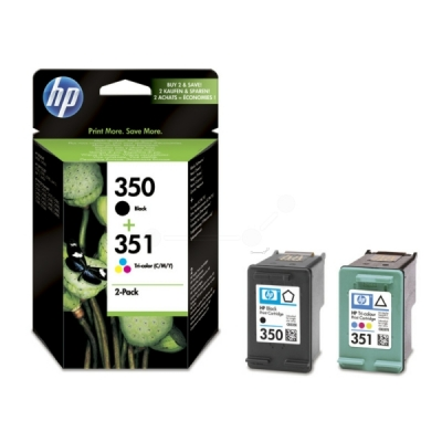 HP multipak nr. 350 + 351 zwart color SD412EE