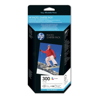 HP printkop nr. 300 color+papier CG846EE