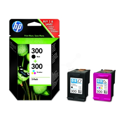HP multipak nr. 300 zwart color CN637EE