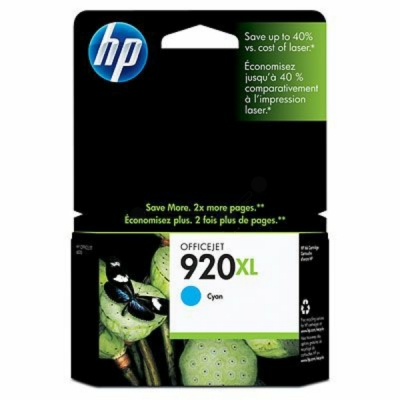 HP inktpatroon nr. 920XL cyaan CD972AE