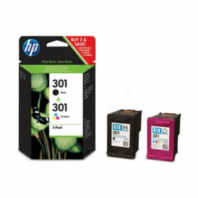 HP inktpatroon nr. 301 zwart+color CR340EE multipak