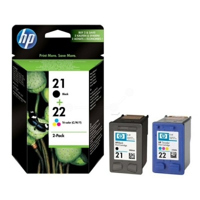 HP multipak nr. 21 + 22 zwart color SD367AE
