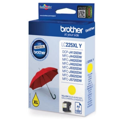 Brother inktpatroon LC-225XLY geel