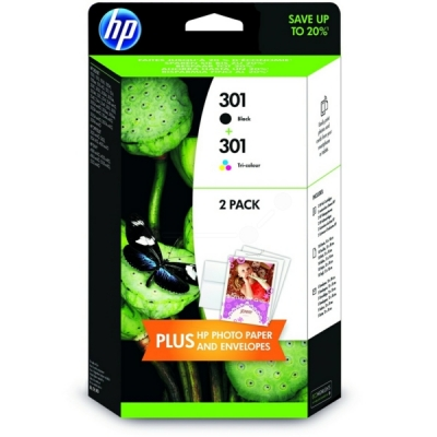 HP printkop nr. 301 BK+color multipak J3M81AE