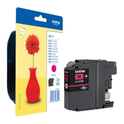 Brother inktpatroon LC-121M magenta