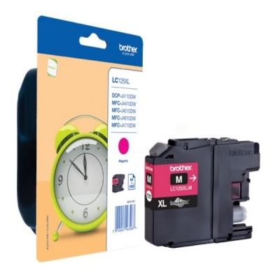 Brother inktpatroon LC-125XLM magenta