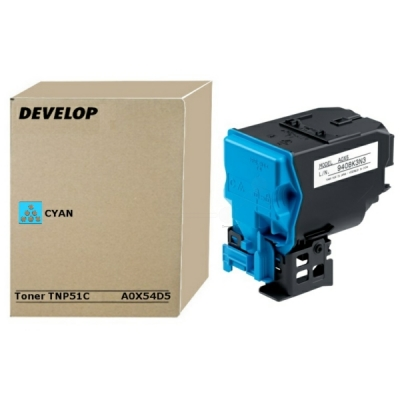 Develop toner A0X54D5 cyaan
