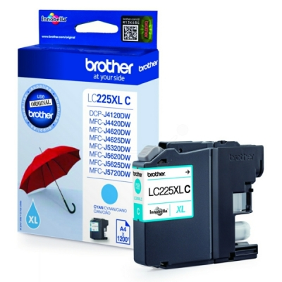 Brother LC-225XLC inktpatroon cyaan