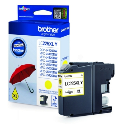 Brother LC-225XLY inktpatroon geel