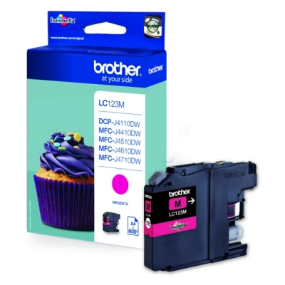 Brother inktpatroon LC-123M magenta