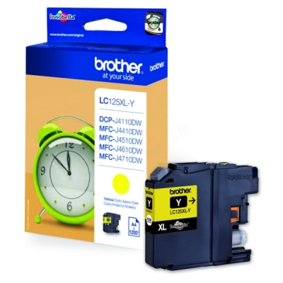 Brother inktpatroon LC-125XLY geel