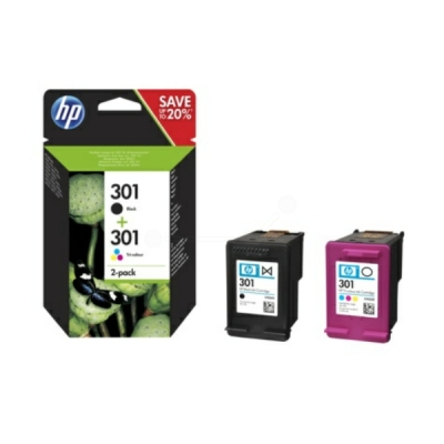 HP printkop nr. 301 zwart + color N9J72AE multipak