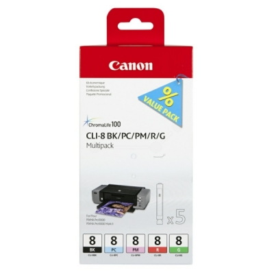 Canon inktpatroon CLI-8 BK,PC,PM,R,G 0620B027 multipak