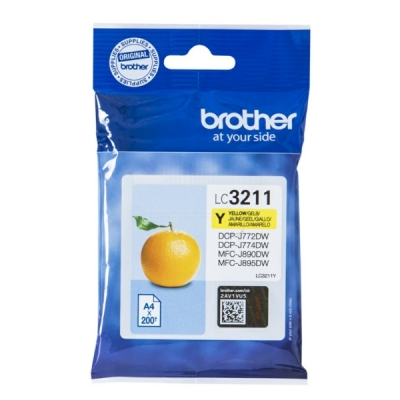 Brother LC-3211Y inktpatroon geel