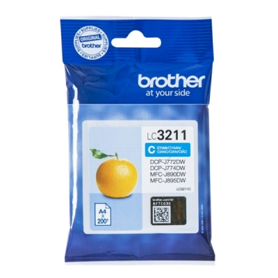 Brother LC-3211C inktpatroon cyaan